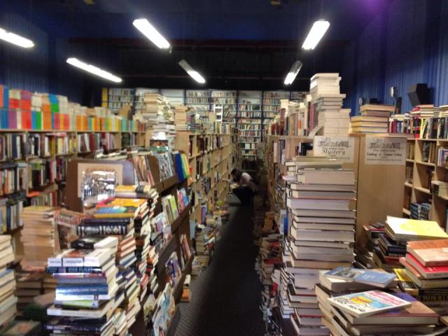 The interior of the Better Buy Books Store in Mission, BC